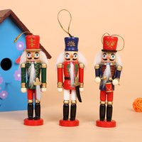 wood carved nutcracker - The new design wood nutcracker colorful Christmas crafts decorative wood crafts wooden Christmas Little Soldier handmade ornaments