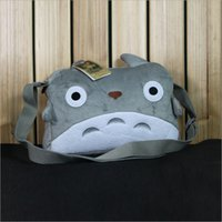 Wholesale Totoro Plush Messenger Bag - New Plush My Neighbor Totoro Shoulder Messenger Crossbody Bag Animation Around for Girls and Boys Travel