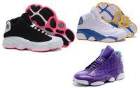 Wholesale Hot Elastic Girls - Hot Sale black--pink-white Basketball XIII Women shoes New Retro 13 Women's Basketball Shoes Sports Footwear Sneakers Trainers girls Shoe