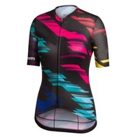 Wholesale HOT Pro Team Women Cycling Shirts Short Sleeve Tops Quick drying Breathable Bicycle Jersey Summer Max Cool Roupa Ciclismo Bike Clothes
