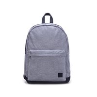 Wholesale School Satchels Book Bags - Fashion Unisex Canvas Backpack Book School Bags Satchel Women Men Plain Casual Light Grey Outdoor Travel Computer Bag High Capacity CT19051