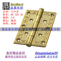 Wholesale Genuine goodlink topsystem Antique Copper inch thick wooden door hinge bearing real silencer HG G