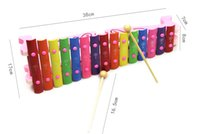 Wholesale Wooden Xylophone Baby - Children fifteen sound knock piano toy wooden puzzle 1-3 years old baby 15 tone aluminum knock musical toy xylophone