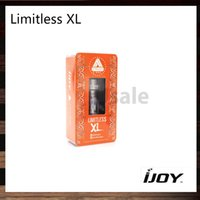 Wholesale Ups Systems Wholesalers - iJoy Limitless XL RTA Tank 4ml Sub Ohm Atomizer 0.15ohm Light-up Chip Coil with Rebuildable and Swappable Deck System 100% Original