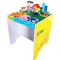 Wholesale Block Table - Block Table With Baseplate Creative Brick Table Assembled Particle Building Blocks Educational Toy for Kids Compatible With Brand Blocks