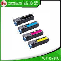 Wholesale compatible laser - D2150, Compatible Dell 2150 Toner Cartridge for Dell 2150 2155 Laser Printer 3310716 - 3310719 , 59311040-59311037 , BK: 3,000 C M Y: 2,000