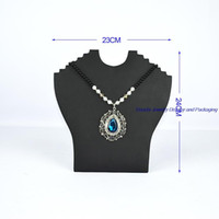 Wholesale Antique Jewelry Stand Holder - Multi Antique Chest Holder for Jewelry Necklace Display Stand Foldable Black PU Cardboard Neck Easel