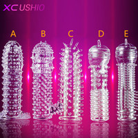 Wholesale penis type sex toys for sale - Group buy 1PC New Time Delay Crystal Penis Rings Reusable Penis Sleeves Penis Extender Cock Rings Adult Sex Toys For Men Types