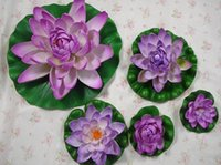 Wholesale Fishing Posts - Size XL diameter 28cm 1PCS Artificial lotus water lily flowers plants for Wedding Party Home Decor craft fish DIY CN post