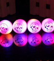 Wholesale Fun Party Favors - Wholesale Fun Party Favors Flashing Skull Party Finger Rings LED Light up Dark Halloween Party Supplies Gift YH176
