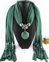 Wholesale Scarf Jewelry Alloy - Newest Cheap Fashion Women Scarf Direct Factory Latest Jewelry Scarves Women resin Scarf Necklace From China