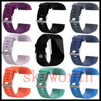 kit de pulsera reloj al por mayor-Muñeca Wearables Correas de silicona Band para Fitbit Surge Watch Clásico de reemplazo Pulsera de silicona Correas Band (No Tracker) Con Kits de herramientas