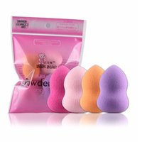 Wholesale Beauty Blender Pro - Wholesale-D6li New Fashion 4pcs Pro Beauty Flawless Makeup Blender Foundation Puff Multi Shape Sponges New AP1