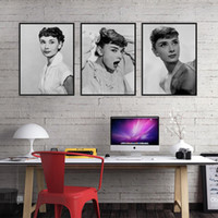 Audrey Hepburn Foto en blanco y negro Vintage A4 Poster Print Pop Movie Celebrity Canvas Painting Super Star Portrait Arte de la pared regalo