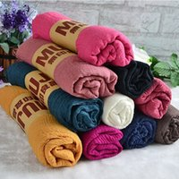 Wholesale Yellow Wrapped Candy - Women Oversized Cashmere Wool Solid Pashmina Scarf Wraps Warm Blanket Scarves long candy colors soft Shawl scarves fashion