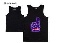 жилеты для мышц оптовых-Хип-хоп illest tank мужская мода Muscle Tank Новый стиль повседневные жилеты для лета мужские высокое качество жилет 9 стиль бесплатная доставка