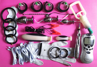 Wholesale cock ring clips for sale - Group buy 2017 Newest Electric Shock Therapy Kit Bondage BDSM Gear Penis Ring Urethral Plug Nipple Clips Anal Vaginal Dildo Cock Cupping Sex Toys