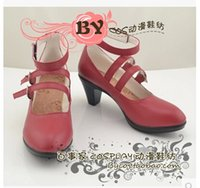 Wholesale Celestia Ludenberg Cosplay - Wholesale-Danganronpa Super Dangan-Ronpa 2 Celestia Ludenberg Cosplay Shoes Cosplay Boots Professional Handmade! Free shipping!