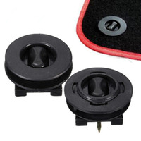 araba paspasları toptan satış-Car Mat Carpet Klipsler Tespit Elemanları Kelepçe Taban Direkleri Sleeves Premium Black
