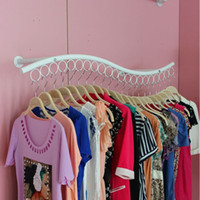 Wholesale Hanging Metal Shelves - Clothing Display Rack S Shape Wall Side Hang Children's Wear Clothes Dress Organizer Store Shop Display Shelf ZA4834
