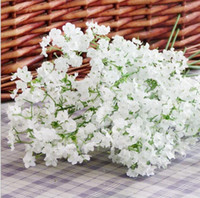 Wholesale White Gypsophila Flowers - gypsophila baby's breath artificial silk flower Plant Home Wedding Decoration decorative flowers bridal bouquet decoration flowers SF1101