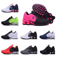 Wholesale Hot Pink Womens Shoes - 2017 New arrival Hot Sale Famous Shox 809 Deliver Mens Womens Athletic Sneakers black white pink red Sports Running Shoes Size 5.5-12