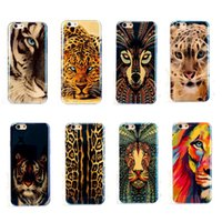 Wholesale Iphone Silicon Case Leopard - Silicon HD Blu-ray Tiger Lion Leopard Phone Case for iPhone 6 6s Soft TPU Cover for iPhone 6 6s Plus