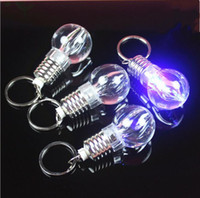 Wholesale Personalized Crystal Photo - Christmas LED Light keychains Fashion Pendant Rings Purse Bag Charms Halloween Keyrings Hot Novelty Key Chains Personalized Gifts Y105
