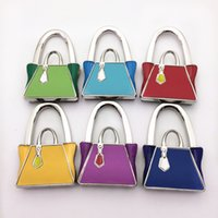 Wholesale Wholesale Coffee Bags Handbags - 100 pcs lot Zinc Alloy Crafts Bag Hanger  Wedding Party Gift Bag Holder Foldable Handbag Hook at Coffee Bar Restaurant