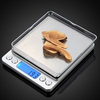 Wholesale portable benches - Portable Digital Kitchen Bench Household Scales Balance Weight Digital Jewelry Gold Electronic Pocket Weight + 2 Trays balance