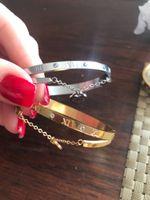 Wholesale White Gold Diamond Heart Bracelet - Luxury Famous Brand Jewelry Pulseira Rose Gold Stainless Steel Bracelets & Bangles Female Heart Forever Love Bracelet For Women