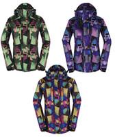 Wholesale Cheap Winter Waterproof Jackets - Wholesale-Winter Snow Suit Jackets Outdoor Sports Women Skiing Jackets Ladies Snowboard Clothing 10K Waterproof Windproof Warm Wear Cheap