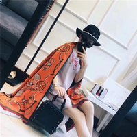 Wholesale Orange Ring Box - Top Qualtiy Luxury Brand Scarf women Size 180 x 70cm Cashmere Scarf Wagon pattern design Winter scarf for women without box