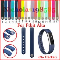 Wholesale Colour Strap Watches - Newest Wrist Wearables Silicone Straps Band For Fitbit Alta Watch Classic Replacement Silicone Bracelet Strap Band 17 Colour (No Tracker)