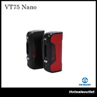 Wholesale Alloy Construction - Authentic Hcigar VT75 Nano Box Mod Equipped with the DNA75W Chip Support Ni   Ti   SS Wire VT75 NANO Zinc Alloy Construction