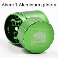 Wholesale Aluminum Level - 1PC ali Crusher Grinder TOP-Level Herb Grinders 40 53mm Aircraft Aluminum Grinder 4 Layers Provide Best Touch Texture VS Lighting Grinder