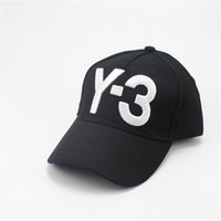 2017 New Y-3 Dad Hat Big Bold Logo bordado Hip Hop Boné de beisebol ajustável Strapback Hats Y3