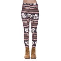 ingrosso pantaloni a crochet-DHL GRATIS! 10pcs / lot Leggings di Natale Modello geometrico delle donne Legging Pantaloni elastici Pantaloni slim fit casual Uncinetto Printi Leggings