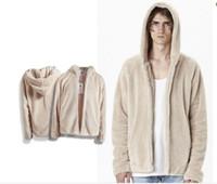 Wholesale Polka Dot Warmer - 2016 New Men's Plush Thick Warm Hoodie Overcoat Winter Coat Fleece & Men's Cotton Padded For Male