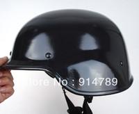 Wholesale M88 Airsoft Helmet - Wholesale-US SWAT AIRSOFT M88 STYLE STEEL HELMET GLOSSY BLACK-33365