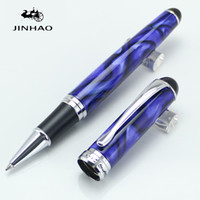 Wholesale executive ball pen - High quality JINHAO 750 Executive Royal Blue Royal Roller Ball Pen Stationery Office Supplies Writing pen New Arrival