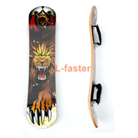 """Wholesale Longboard Bamboo - 9""""x 37"""" Mountain Skateboard Deck 10 layer Off Road Bamboo Deck Longboard Board With Foot Holder Adult Skateboard Without Truck"""