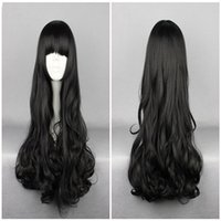 Wholesale Black Boy Wig - Anime Rwby Blake Belladonna Black 70cm Long Wavy High Quality Synthetic Fashion Anime Women Cosplay Wig