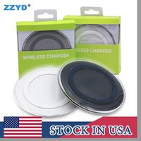 Wholesale Mobile Phone Adapters - ZZYD Universal Qi Wireless Charger Newest Charging Adapter Receiver For Samsung Note Galaxy S6 s7 Edge mobile phone with package