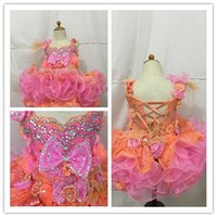 Discount discount-discount - The new pink lace skirt dresses orange cake mix back strap bow feather weight manual cheap shipping Girl's Pageant Dresses 2016 hot models