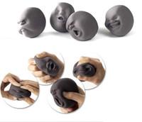 erwachsene neuheit spielzeug geschenk großhandel-Gesicht 1Pcs Emotion Vent Ball Spielzeug Harz Menschen entspannen Puppe CAOMARU Erwachsene Stress entlasten Anti-Stress-Neuheit Geschenk Dekompression Spielzeug