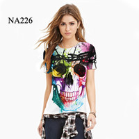 Wholesale Yellow Thundercat - Funny 3D Summer Fashion Colorful Skull Galaxy Cool Lion Thundercat T-Shirt Casual Harajuku Tees Couple Brand Design Clothes for Women Men