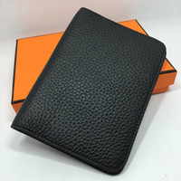 Wholesale passport protector cover - 6 Colors Genuine Leather Passport Cover id Credit Card Holder Travel Wallet Top Organizer Card Protector 2017 New Arrivals Fashion Brand