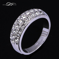 Wholesale Classic Gypsy - Cubic Zirconia Micro Pave Classic Deaign Engagement Ring Wholesale Fashon Jewelry For Man and Women aneis anel joias DFR109