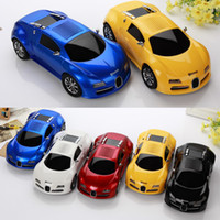 Wholesale New Design Car Mp3 Player - 2017 New Wireless Car Shape Mini Bluetooth Speaker USB TF SD Card Stereo Sound Box FM Amlifier Bugatti Car Design Speakers MP3 Music Player
